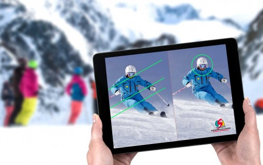 Video-analysis and evaluation of skiing style using modern devices